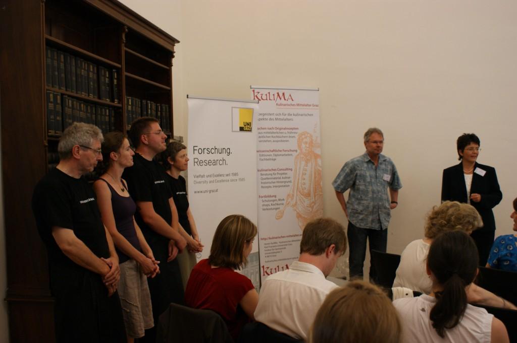 Mitglieder des Vereins Kulinarisches Mittelalter an der Universität Graz, Thomas Gloning, Karin Kranich